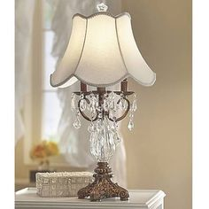 crystal chandelier table lamps - Google Search