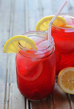 Pink Lemonade with Cherries