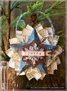 Country Christmas Paper ornament