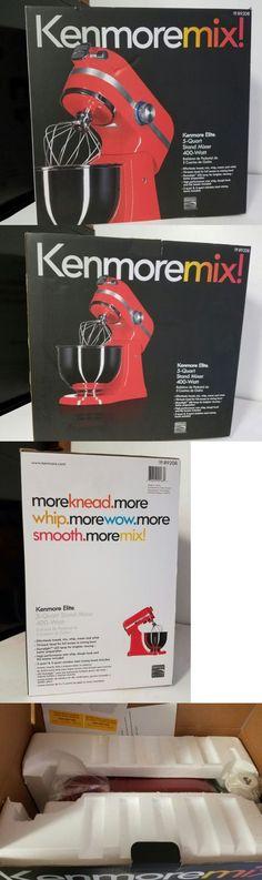 Kenmoremix Elite Countertop Tilt back Stand Mixer 400 Watt 5 Qt Red Model 89208