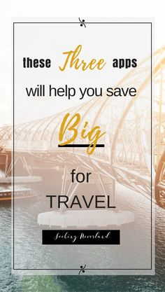Want to travel but suck at saving? These three apps will help you save TONS of money for traveling. Plus, I share saving hacks per app that will help explode your savings even more. PIN NOW and get to saving! Best Travel Apps, Best Apps, Travel Deals, Budget Travel, Travel Destinations, Travel Fund, Travel Packing, Travel Advice, Travel Tips