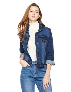 cd07d25b35b6c7 Lily Parker Women s Long Sleeve Button Front Denim Jacket Denim Jackets
