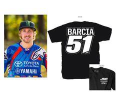 FX JGR MX TEAM BARCIA #51 T-SHIRT BLACK MX SX MOTOCROSS SUPERCROSS AMA #FACTORYEFFEX #CLOTHING