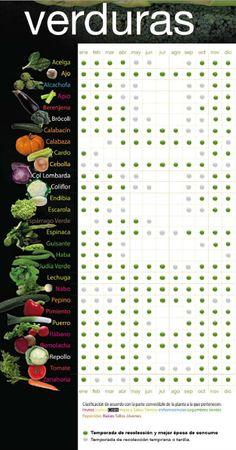Calendario verduras de temporada
