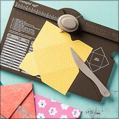 """Die 20 besten Anleitungen für das envelope Punch Board: u.a. Knallbonbon (6""""x6""""), verschiedenen kleine Verpackungen (u.a. für Ritter Sport), Bestecktaschen, Schneemann, uv.m."""