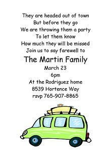 Going Away Party Invitation Moving Farewell Party Invitation
