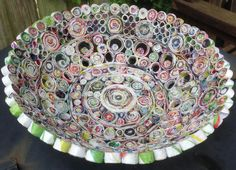 Bowl made of recycled newspaper