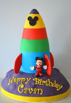 Mickey Mouse Rocket Cake