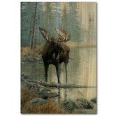 Found it at Wayfair - Quiet Water Moose Painting Print on Wood