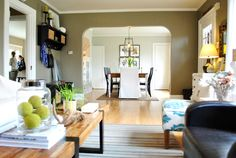 Great ideas for decorating small, old houses!  Love so much about this whole house tour