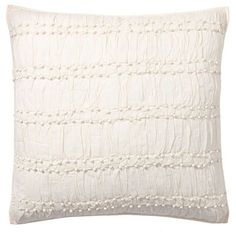 Pottery Barn Ella Ruched Sham ($70) ❤ liked on Polyvore featuring home, bed & bath, bedding, bed accessories, ruched bedding, beige bedding, pottery barn shams, cream bedding and embroidered pillow shams