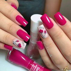 Nail art Christmas - the festive spirit on the nails. Over 70 creative ideas and tutorials - My Nails Spring Nail Art, Spring Nails, Summer Nails, Trendy Nails, Cute Nails, Hair And Nails, My Nails, Nagel Gel, Holographic Nails