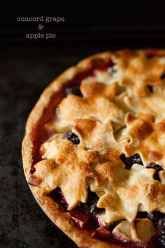 Concord Grape & Apple Pie | Eyes Bigger Than My Stomach