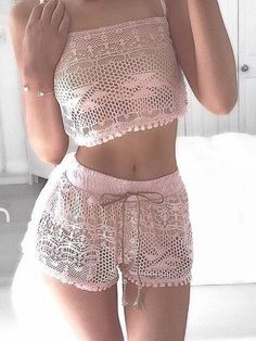 #summer #girly #outfitideas |  Pink Lace Lovely Set