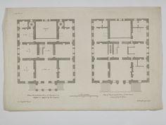 Two floor plans, Stourhead, Wiltshire