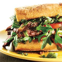Steak Sandwiches with Fresh Herb Topping Cooking Light- 405 calories Light Sandwiches, Steak Sandwiches, Wrap Sandwiches, Supper Recipes, Lunch Recipes, New Recipes, Favorite Recipes, Lamb Recipes, Shrimp Recipes