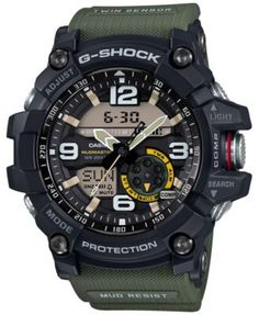1f9a32737ee G-Shock Men s Analog-Digital Mud Master Army Green Resin Strap 56x55mm  GG1000-1A3 Jewelry   Watches - Watches - Macy s