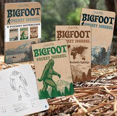 Bigfoot Pocket Journals Sasquatch Big Foot Monster Write Diary Paper Journal Set for sale online Plain Notebook, Pocket Notebook, Journal Notebook, Bigfoot Birthday, Bigfoot Party, Finding Bigfoot, Bigfoot Sasquatch, Slam Poetry, Ruled Paper