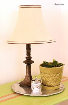What Is The Best Way To Paint A Thrift Store Lamp