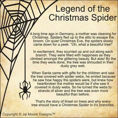 image regarding Legend of the Christmas Spider Printable identify 253 Simplest Xmas SPIDER shots within just 2019 Jewellery crafts