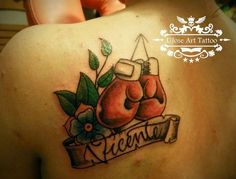 Boxing gloves & name tattoo – Tattoo Picture at CheckoutMyInk.com