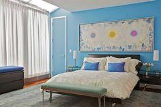 15 Fotos e ideas para pintar y decorar un dormitorio de azul. | Mil Ideas de Decoración