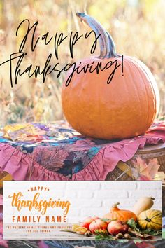 ·   Fall leaves Pumpkin Personalized Happy Thanksgiving Banner' .    The picture shows Seasonal Thanksgiving design. .    This Thanksgiving banner is great for the person who needs Family Thanksgiving Ideas. ·     The banner can be a backdrop or an additional party decoration. ·    Made of high-quality vinyl, durable, lightweight. ·    Personalized by adding your name. Thanksgiving Banner, Family Thanksgiving, Thanksgiving Parties, Family Presents, Custom Banners, Fall Leaves, Backdrops, Pumpkin, Decoration