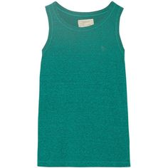 Current/Elliott The Muscle jersey tank (625 MXN) ❤ liked on Polyvore featuring tops, tank tops, & - clothing - shirts, musculosas, shirts, jade, jersey shirt, current elliott tank, blue tank top and relax shirt