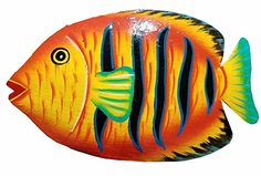 Handchiseled and Painted Tropical Metal Art Wall Decor Fish >>> More info could be found at the image url. (This is an affiliate link and I receive a commission for the sales) Mermaid Wall Decor, Fish Wall Decor, Fish Wall Art, Fish Art, Wall Art Decor, Plaster Crafts, Nautical Wall Art, Wood Fish, Metal Art