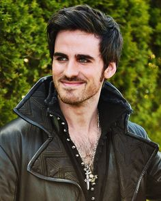 Colin O'Donoghue as Captain Hook...oh wow, hello gorgeous green eyed beauty