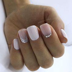 130 glitter gel nail designs for short nails for spring 2019 page 20 . - 130 glitter gel nail designs for short nails for spring 2019 page 20 – … – - Glitter Gel Nails, Cute Acrylic Nails, Cute Nails, Pretty Nails, My Nails, Shellac Nails, Pretty Short Nails, No Chip Nails, Work Nails