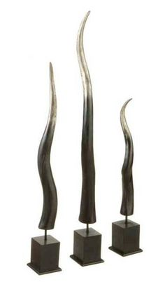 extra large paired polished horn, made from cattle horn (ox horn