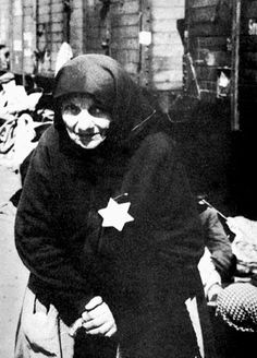 Shoah - The Holocaust - A Jewish woman from Greece on the Birkenau platform