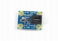 1143_0 - Light Sensor 70000 lux Measures light intensities of up to 70 kilolux on a logarithmic scale and connects to an analog input. Both incandescent and fluorescent light can be measured.