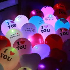 12 inch LED 7 colors Balloon Glow In Dark Sky I LOVE YOU light balloons Flashing Wedding Birthday Party Supplies decoration I Love You Images, Love You Gif, Love Pictures, Girly Pictures, Couple Pictures, Cute Love Quotes, Romantic Love Quotes, I Love You Balloons, Light Up Balloons