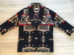 Pendleton-Women-039-s-Shall-Collar-Indian-Blanket-Jacket-Size-Small