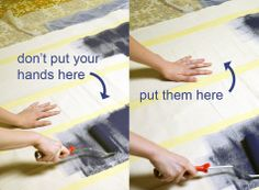 Painting tips for How to Make Your Floor Look Pretty for Under $200: DIY Floor Cloths