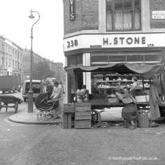 Portobello Road by Ken Russell in the 1950s