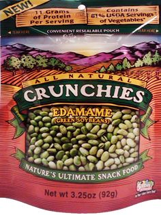 Check out this All Natural Edamame (Green Soybeans) from @Crunchies Food -- it's high in protein and fiber!! how great does this sound for a nutrient balanced eating occasion?