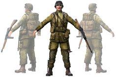 WWII American Soldier by Beatheart Creative Studio on @creativemarket