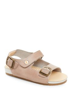 Falcotto (Toddler Boys) Beige Leather Sandals