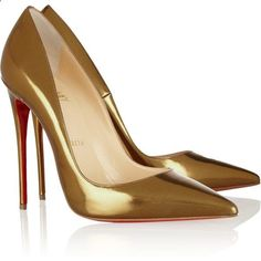 Christian Louboutin - So Kate 120 patent-leather pumps Pretty Shoes, Beautiful Shoes, Cute Shoes, Me Too Shoes, High Heel Pumps, Pumps Heels, Gold Pumps, Loubs Shoes, Christian Louboutin Shoes