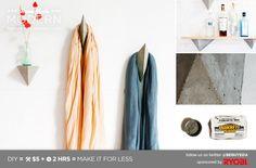 HomeMade Modern DIY EP12 Faceted Concrete Hooks Postcard