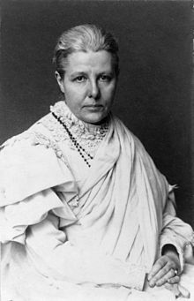 Annie Besant (1847 - 1933), theosophist, socialist, author, women's rights activist, adoptive mother of Krishnamurti. via Wikipedia