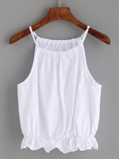 To find out about the White Peplum Cami Top at SHEIN, part of our latest Tank Tops & Camis ready to shop online today! Cute Fashion, Girl Fashion, Types Of Jeans, Diy Tops, White Peplum, Trendy Summer Outfits, Unique Prom Dresses, Latest African Fashion Dresses, Denim Outfit
