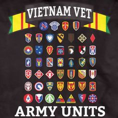 Vietnam Army Units Brothers in Arms T-Shirt Vietnam Map, Vietnam History, Vietnam War Photos, South Vietnam, Vietnam Veterans, Military Ranks, Military Units, Military Insignia, Military History