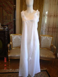 cotton white nightgown