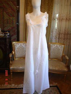 cotton white nightgown