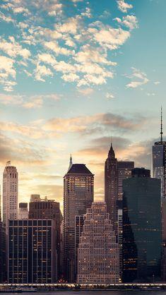 City Skyline #chicago #newyork #nyc #california #clouds #sunset