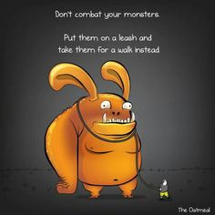 The Oatmeal, comic, monsters, good advice